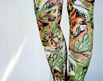 Woodland Fox Print Leggings