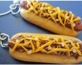 Chili Cheese Dog Earrings