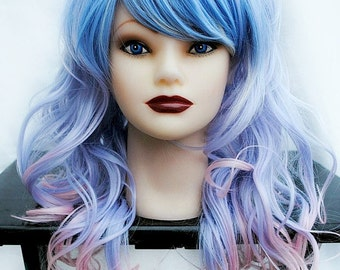 SALE Pastel wig | Purple wig, ombre wig, scene wig, cosply wig | Pastel Ombre | Long Wavy Sweet | Unicorn Enchantments