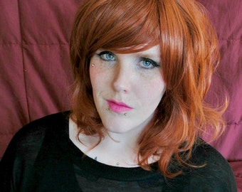 SALE Auburn wig, red wig, scene wig, cosplay wig // Auburn Red Curly Long Redhead Hair // Natural Sexy Lolita | Apple Pie