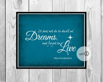 Dumbledore Quote Print, Geek Art, Wall Art, 8x10 Print, INSTANT DOWNLOAD