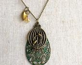 Love Birds Necklace - Birdcage Industrial Jewelry - Heart - Unique Necklace Valentines Gift