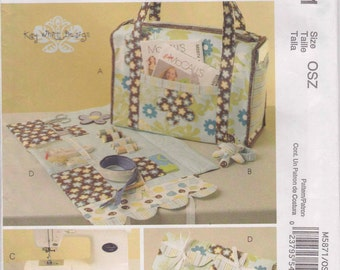 Project Tote Organizer Pattern Wrist Pin Cushion Pattern More Uncut 2009 McCalls M5871