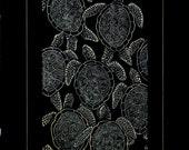 Sea Turtles Under Full Moon