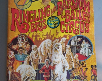 Ringling Brothers Circus 106th Edition Souvenir Program and Magazine, 1977, Vintage Paper Ephemera, Circus Program