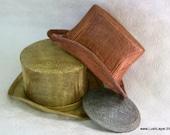 Metallic Tophat Sinamay Fascinator Hat Base-  Silver, Gold, Copper, Pewter