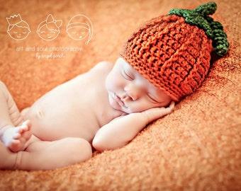 Newborn Photo Prop Baby Fall Pumpkin Hat