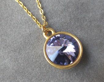 Gold Tanzanite Necklace, December Birthstone Jewelry, December Tanzanite Jewelry, Birthstone Necklace