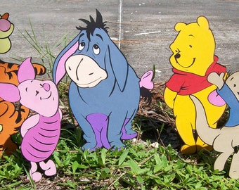 Pooh Birthday Stand Up Party Characters Set
