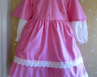 Ships Today - Addy, Civil War, American Girl, Victorian  Colonial Dress - Girls Sz 3-4