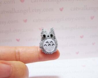 Felt Miniature - Felted Miniature dog - Felted Chinchilla - grey felted miniature Chinchilla - Chinchilla miniature - tiny Chinchilla
