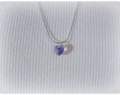 Reserved Listing for Sherri1960 - Crystal Heart Necklace - Amethyst