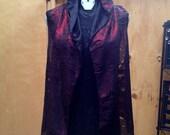 Sleeveless Drape Hoodie Vest - Burning Man, Goth, Post Apocalyptic, Mad Max, Festival, Mummy, Distressed