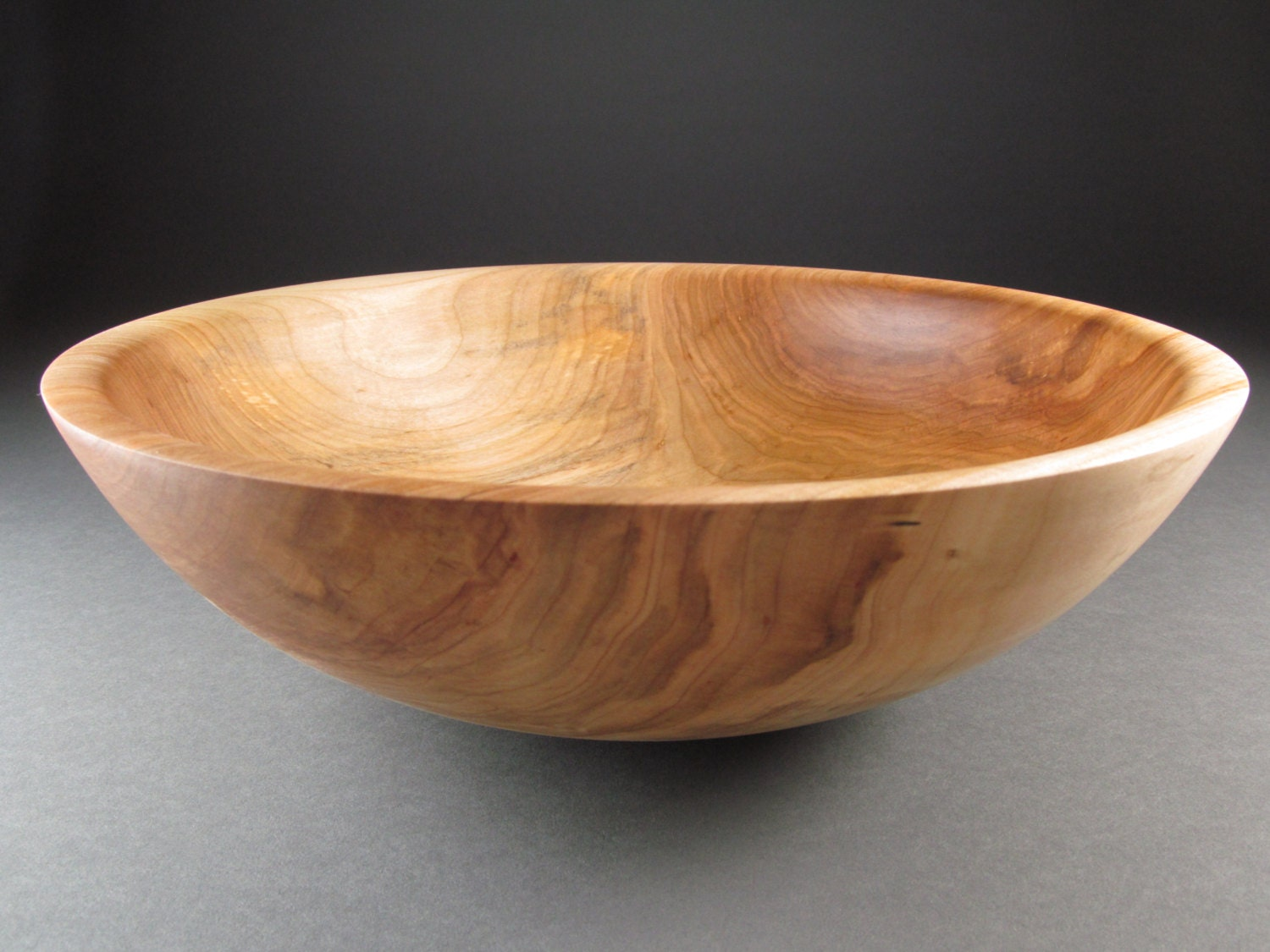 Wooden salad bowl handcrafted from minnesota maple