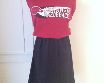UA Univseristy of Arkansas Razorbacks Hogs Game Day T Shirt Tee Dress