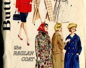 Simplicity 3007 Vintage Raglan Sleeve Coat Jacket Trench Pea Coat Sewing Pattern B36