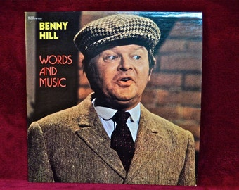 BENNY HILL - Words and Music - 1972 Vintage Vinyl Record Album