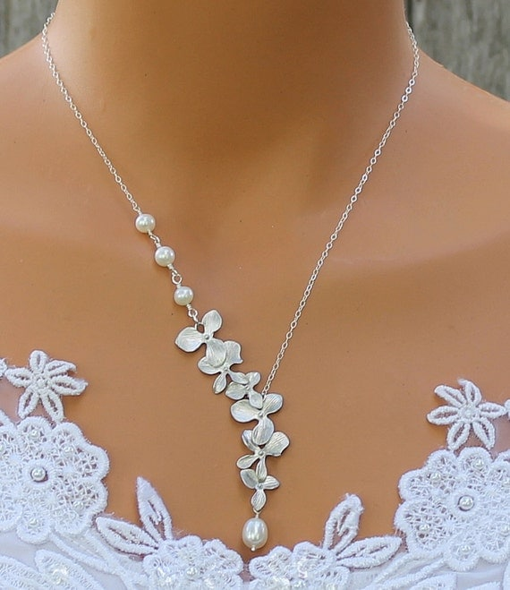 Orchid Necklace Freshwater Pearl Necklace Orchid By