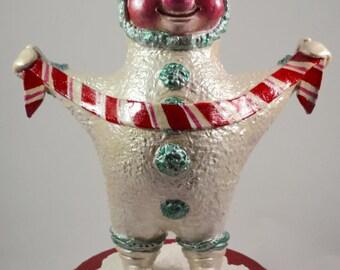 OOAK Joyous Pepermint Pat Christmas Elf Paperclay Sculpture
