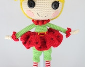 PATTERN: Holly Crochet Amigurumi Doll
