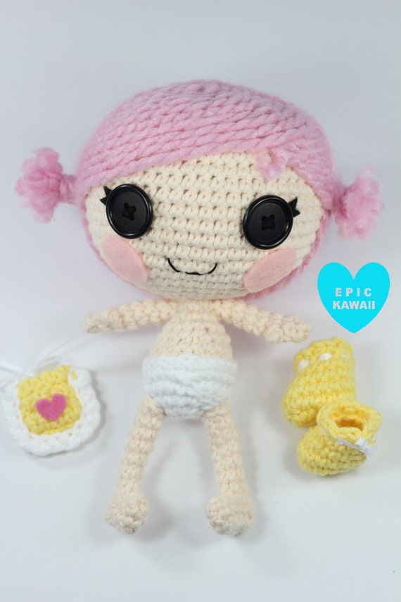 Small Amigurumi Doll Pattern : PATTERN: Little Crochet Amigurumi Doll by epickawaii on Etsy