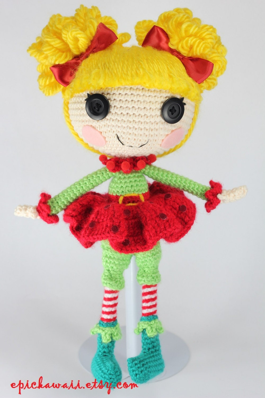 Amigurumi Etsy : PATTERN: Holly Crochet Amigurumi Doll by epickawaii on Etsy