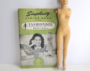 Simplicity Sewing Doll, Instructional Booklet, and Patterns, 1945