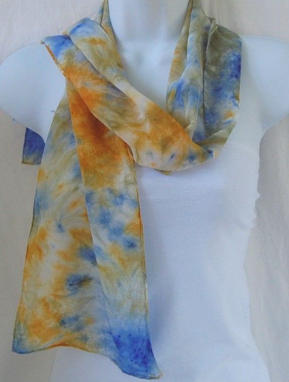 silk scarf dyed silk scarf painted scarves
