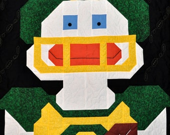Football Duck Quilt Pattern in Multiple sizes - PDF
