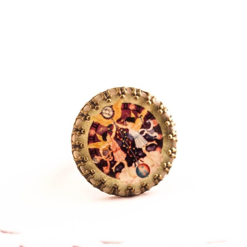 gemini zodiac ring zodiac ring gemini jewelry resin cameo