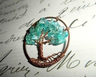 Apatite Tree of Life Petite Necklace Set