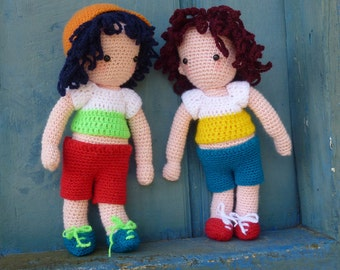 Crochet Pattern Amigurumi PDF - Boys Toy Doll - Instant Download
