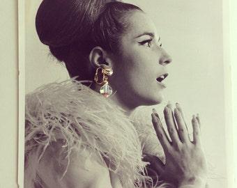 Vintage 1960s Crystal Wedding Earrings - Aurora Borealis Drop - Bridal Fashions