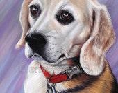 "Christmas Gift, Dog Painting, Pet Portrait  9""x12"", Gift for Father, Gift for Mother, Gift ideas, Gift for Friend, Birthday Gift"