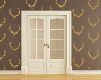 Laurel Wreath Decals Vinyl Decals Wallpaper Pattern Crest