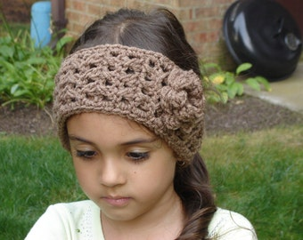 Nutmeg Boho Style Crochet Headwrap / Headband / Earwarmer READY TO SHIP New Item