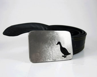 Lucky Duck Belt Buckle - Stainless Steel - Handmade