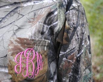 Monogrammed Realtree Camouflage Long Sleeve Pocket T-Shirt