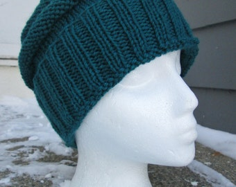 Girls Knit hat, Girls Winter Hat, Wool, Small Adult or Youth