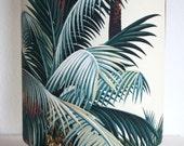 Palm Tree Tropical Lamp, Retro Palm Lamp, Hawaiian Barkcloth Table Lamp