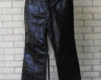 Vintage Leather Pants - Brooks Leather Pants - Cafe Racer Leather Pants - Biker Pants