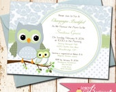 Owl Theme Baby Shower Invitation - Choose Colors for Boy, Girl or Gender Neutral - Printable DIY Invite - Owls, Baby Sprinkle, Gender Reveal