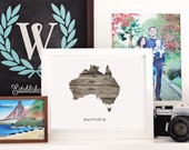 Printable Your Home Country - Australia - INSTANT DOWNLOAD 8x10