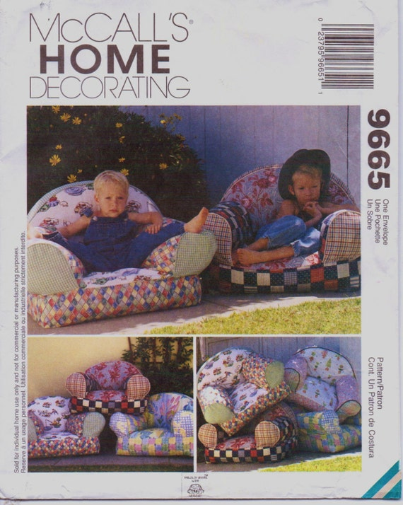 90s Mccalls Home Decorating Pattern 9665 Kids By Cloescloset