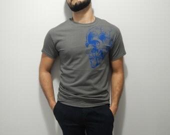 Mens Screen Printed Human Anatomy Shirt