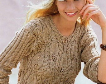 Knitted sweater tunic blouse lace made to order, crochet handmade