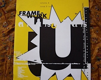 Frame-work 1993 Design Magazine Arts Media Font Technology Computor Graphics Digital Frontier Anatomy Hypertext Cybernetic Literary Culture