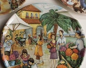 Italian Marketplace Plates for mosaic or jewelry