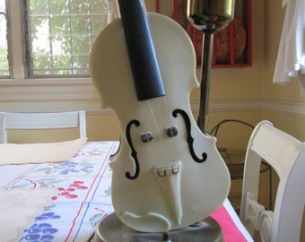 Vintage Violin Viola Table Lamp /50s  musical Instrument Lamp / Rare Charming Lamp