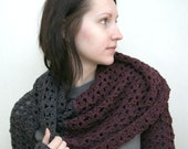 Crochet pattern PDF - Transformer 4in1 - Two versions - Sizes M / L - Cowl Hood Shrug Scarf crochet pattern instant download